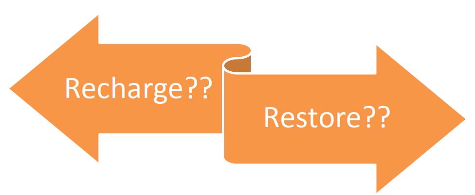 Restore vs Recharge