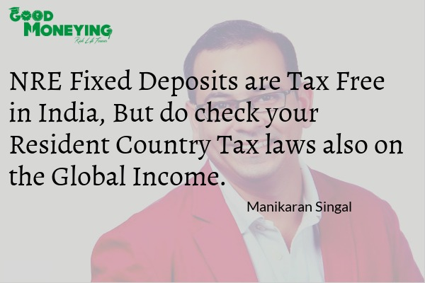 NRE Fixed deposits taxation