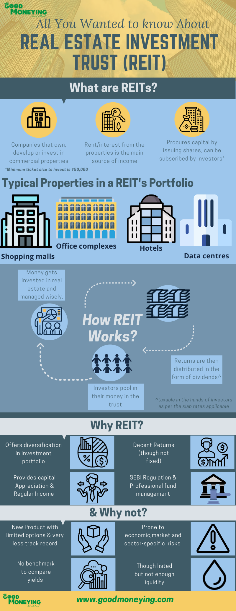Real Estate Investment Trust REIT Infographic