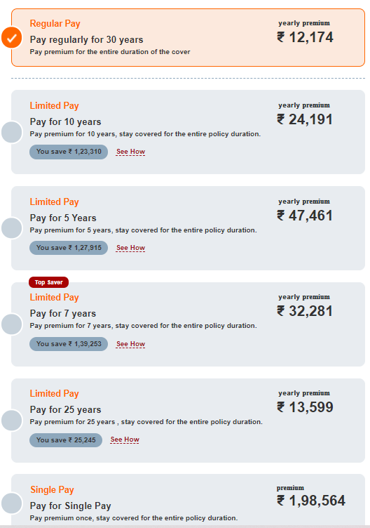 icici iprotect premium payment options